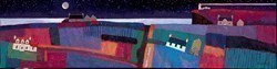 Night Sky by David Body -  sized 47x12 inches. Available from Whitewall Galleries